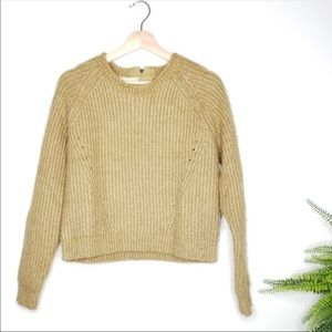 ❗️Anthropologie | Pipen Knit Cropped Sweater Sz S